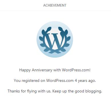 Happy 4 years ofblogging!